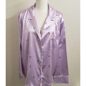 Victoria's Secret Lavender Pajama Sleep Top NWT